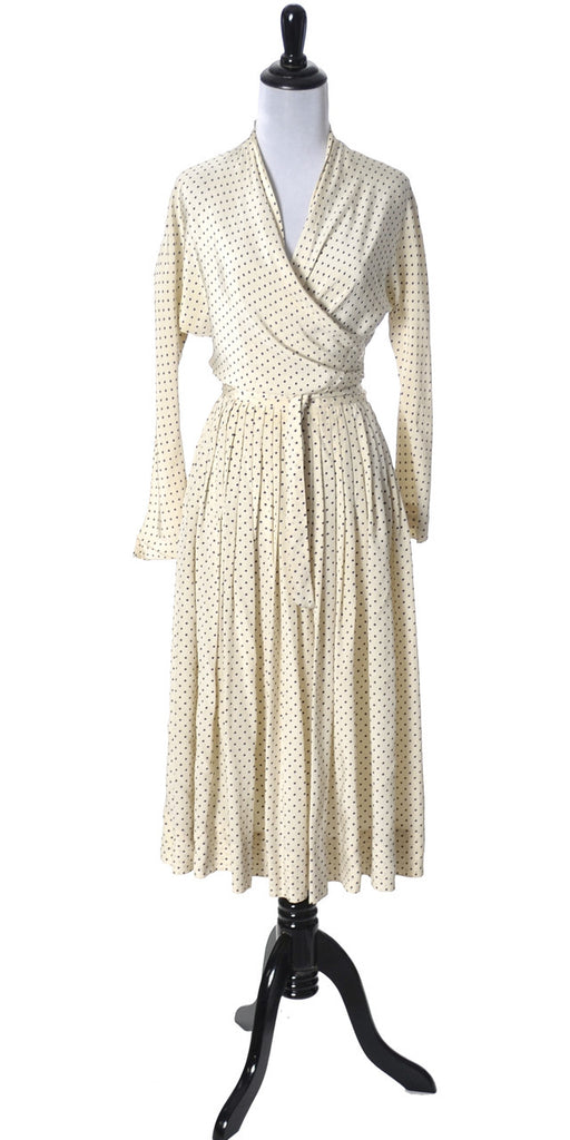 Vera Maxwell 1950s wrap around vintage dress silk