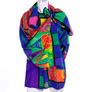 Gianni Versace Vintage Multi Colored Novelty print scarf and blouse