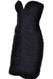 Vicky Tiel Vintage Black Body Con Dress