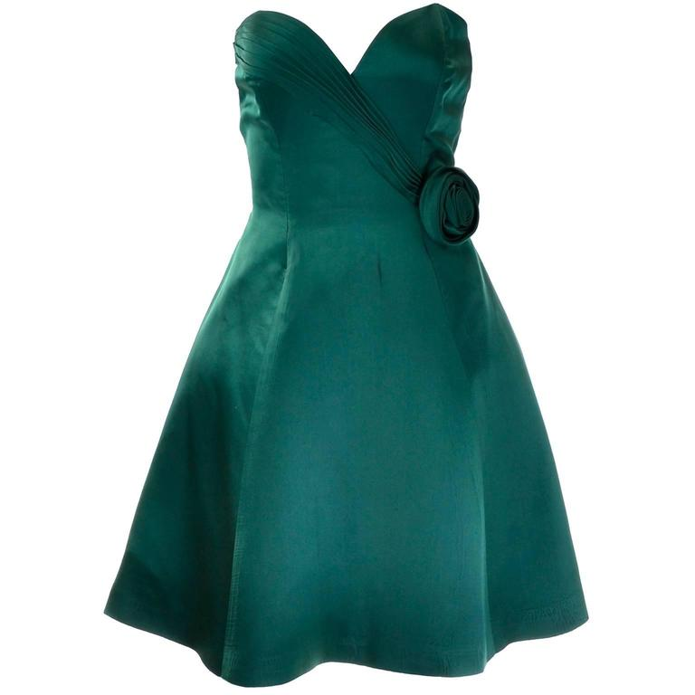 1980's Vintage Vicky Tiel holiday strapless dress