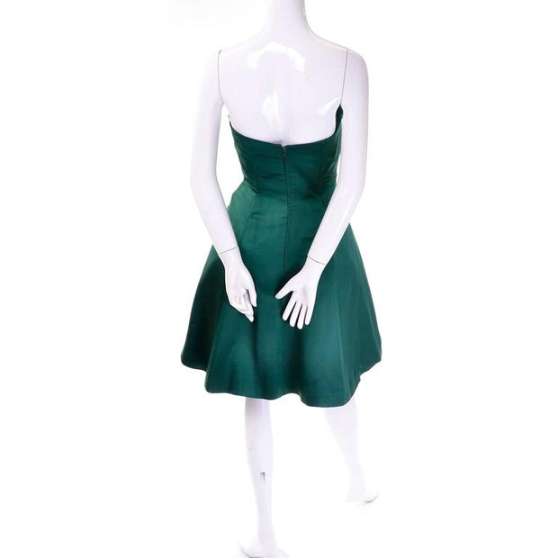 Vintage Vicky Tiel perfect Christmas green vintage holiday party dress