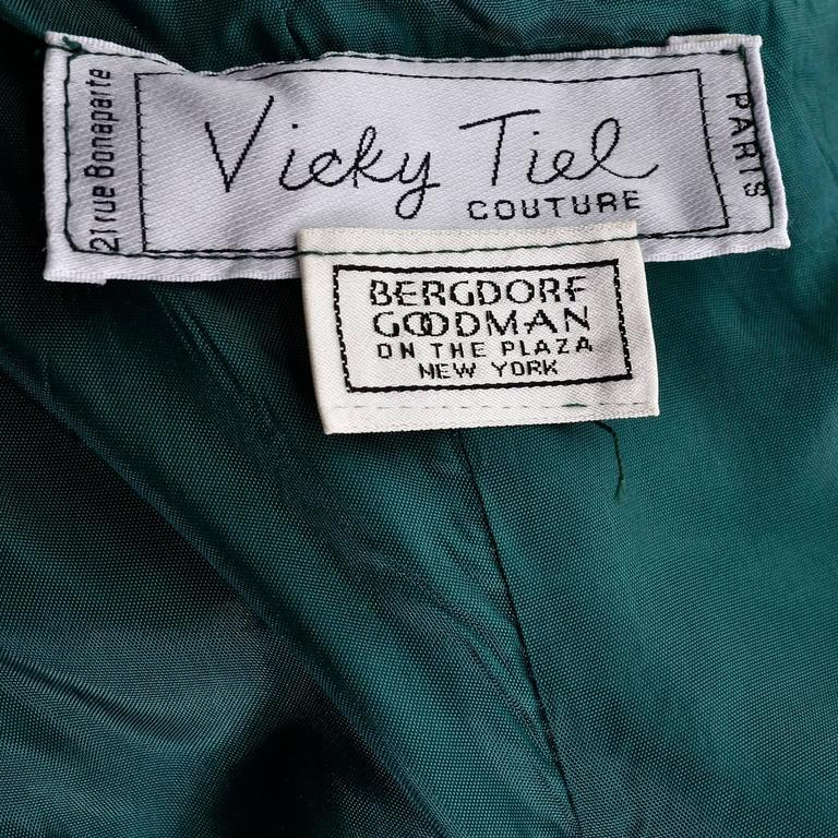 1980's Vicky Tiel Couture Bergdorf Goodman label
