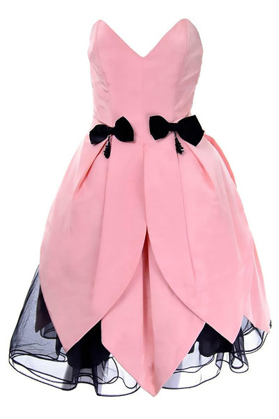 Victor Costa Dress Pink Bergdorf Goodman
