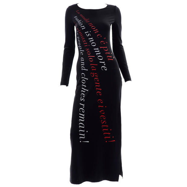 90s Franco Moschino 1990s Vintage Bodycon Statement Dress Fashion is no More