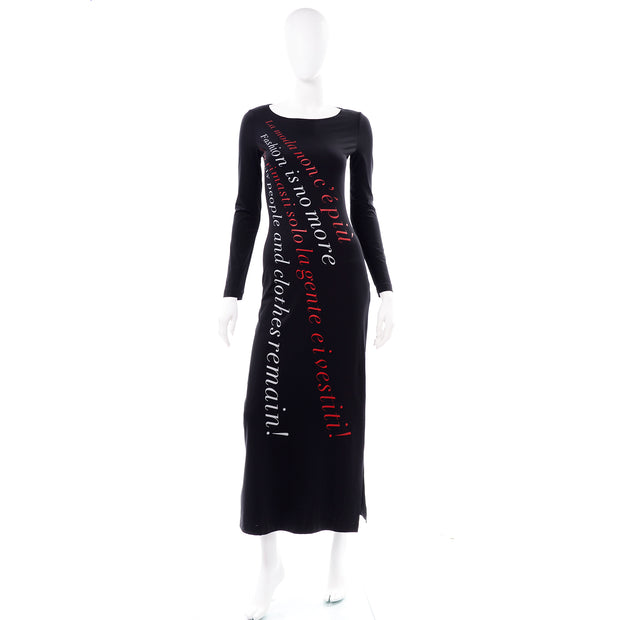 Franco Moschino 1990s Vintage Bodycon Statement Dress Fashion is no More Italian