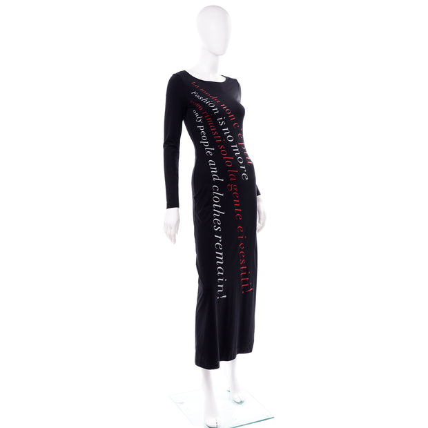 Rare Franco Moschino 1990s Vintage Bodycon Statement Dress Fashion is no More