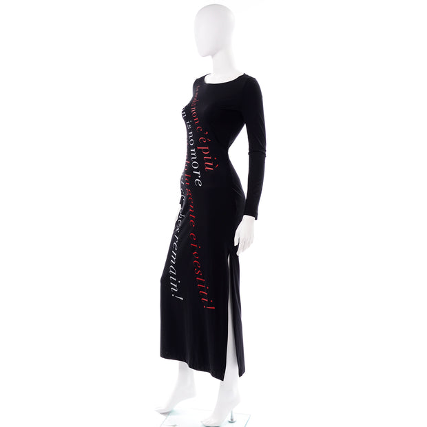 Rare Vintage 1990s Franco Moschino 1990s Vintage Bodycon Statement Dress Fashion is no More