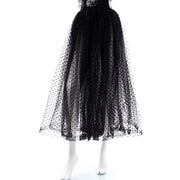Vintage Bill Blass Tulle Sequin Strapless Dress Designer gown