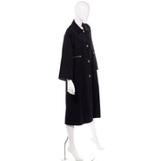 All Weather 1970s Vintage Bonnie Cashin Black Coat  Raincoat w Cashmere Lining