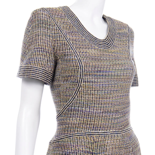 Chanel SS 2015 Multicolored Tweed Dress