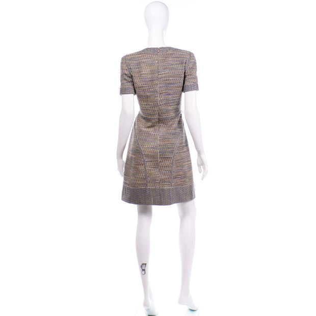 Chanel Spring Summer 2015 Multicolored Tweed Dress ss