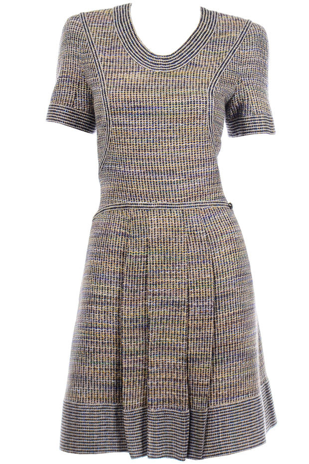 Chanel Spring Summer 2015 Multicolored Tweed Dress