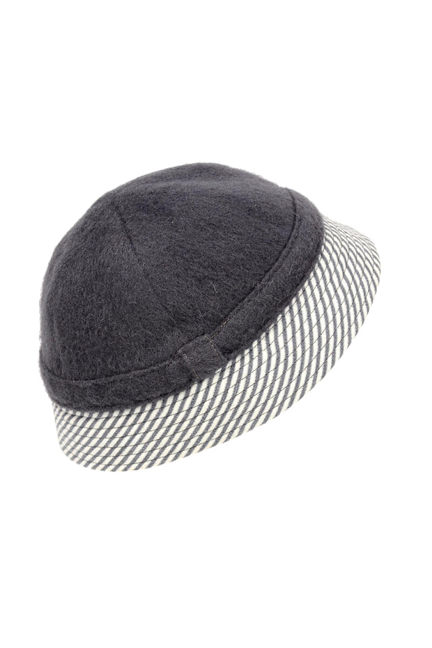 1950s De Pinna Grey Wool Hat