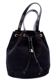 Gianni Versace Black Bucket Bag