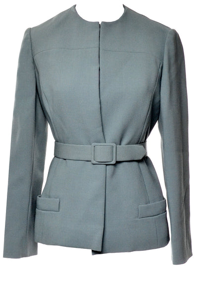 Claudia by George Halley Vintage Green Blazer Jacket with Belt 4 - Dressing Vintage