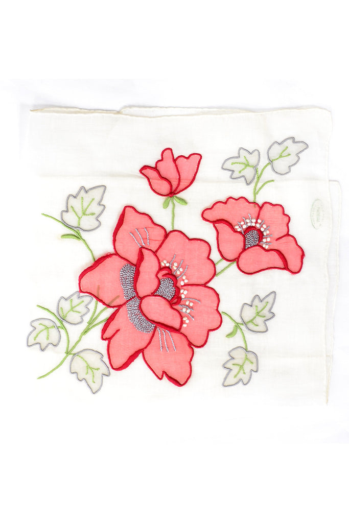 Madeira Portugal Vintage Handkerchief New With Tag Flower