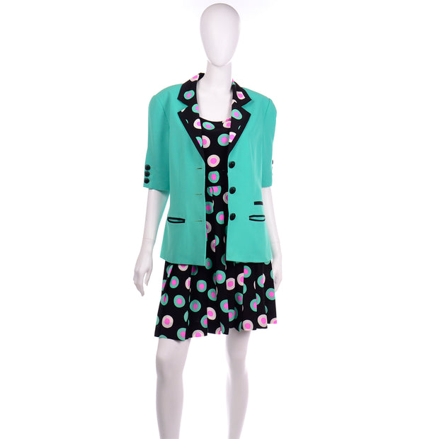 Louis Feraud Jacket and 2 piece dress silk ensemble size 10