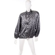 Jeanette for St. Martin Vintage Silver Quilted Oversized Jacket