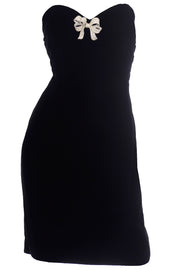 Oscar de la Renta Vintage black strapless evening dress