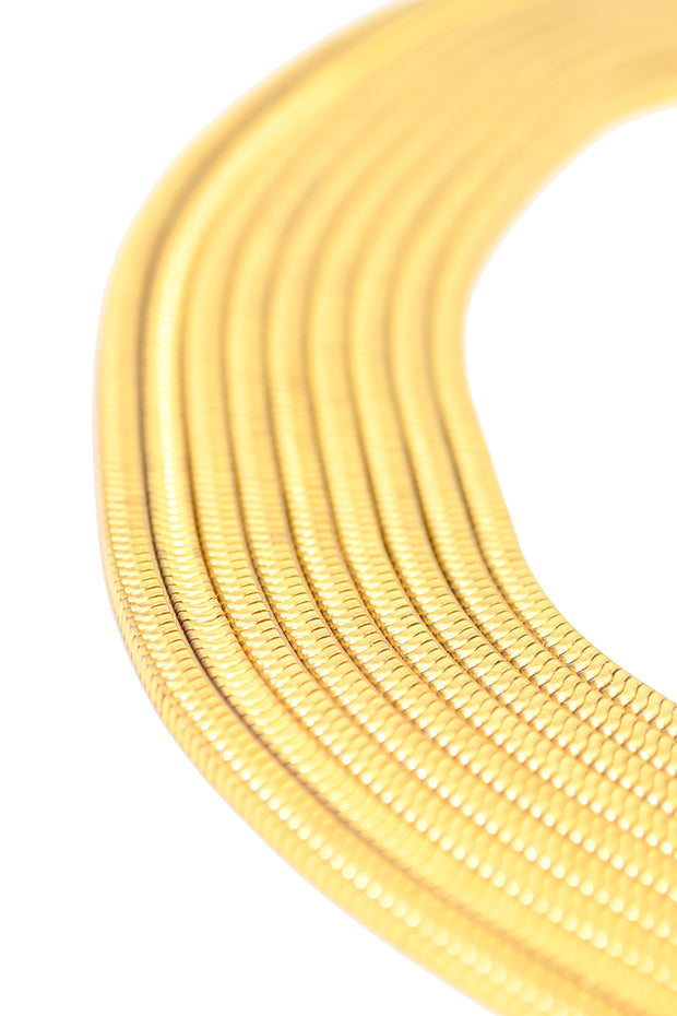 1970s Multi-Strand Snake Chain Gold Tone Vintage Necklace