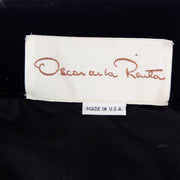 Oscar de la Renta Vintage Black Strapless Evening Dress With Rhinestone Bow 1980s USA