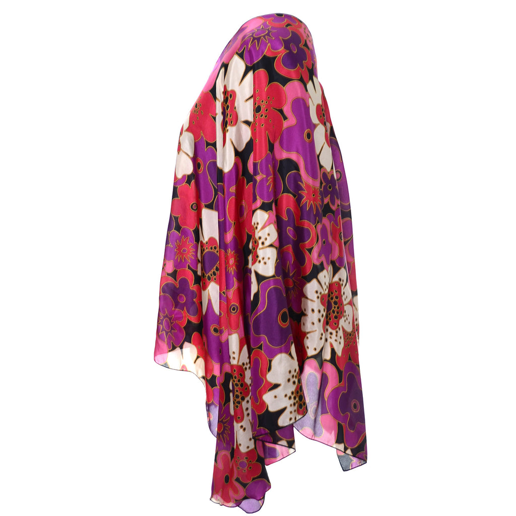 Pink and Red floral vintage poncho nordstrom Italy