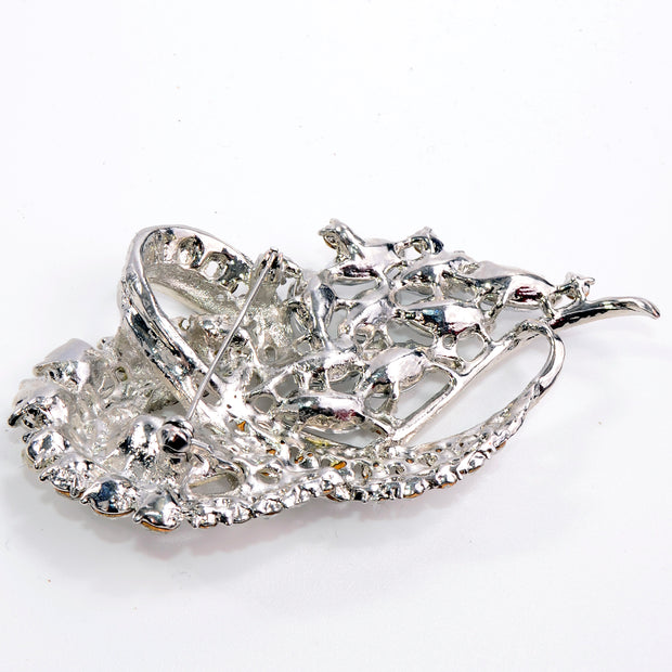 Large Rhinestone Statement Brooch With Multiple Sizes & Shapes of Stones