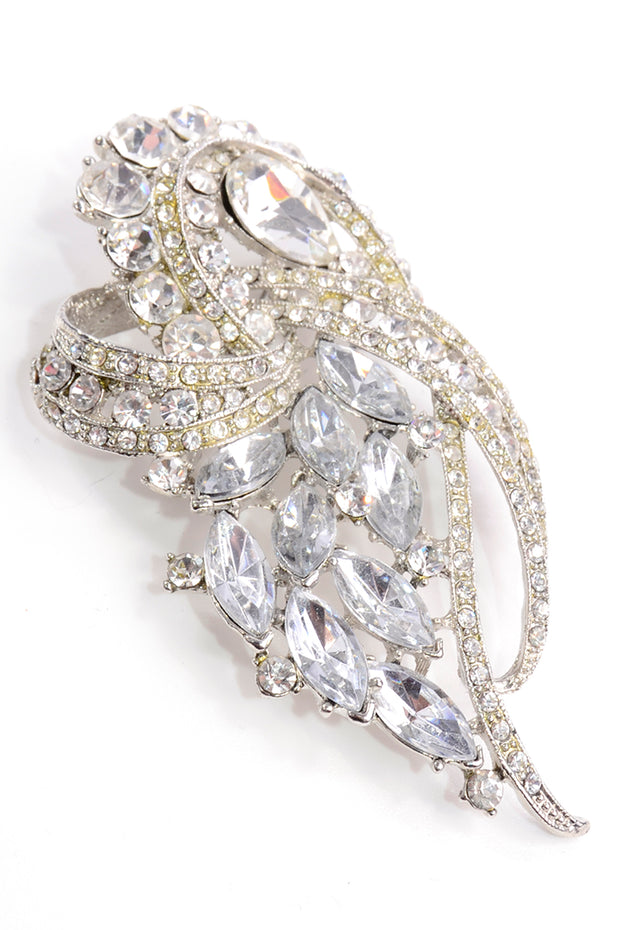 Large Vintage Rhinestone Statement Brooch