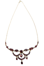 Vintage Georgian Garnet Festoon necklace