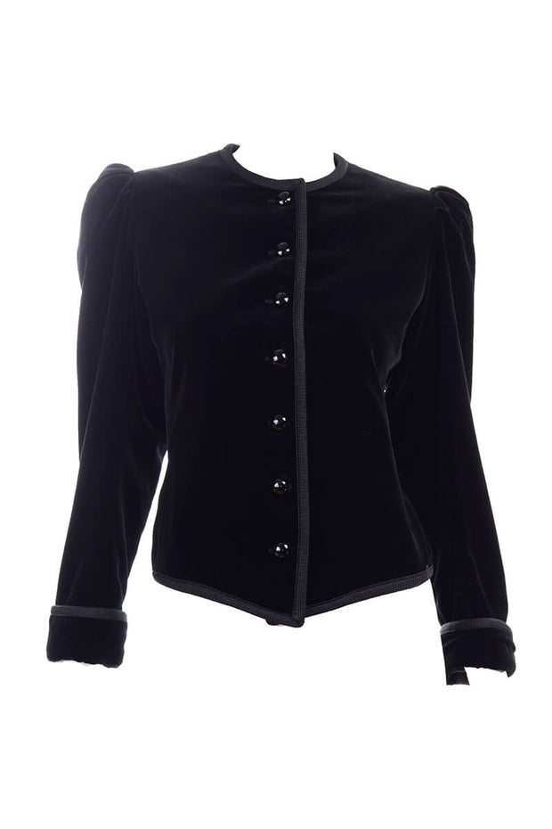 Yves Saint Laurent Black Velvet Vintage Jacket