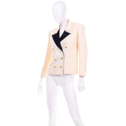 Black & Ivory Yves Saint Laurent Vintage Blazer Jacket