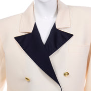 Yves Saint Laurent Vintage Blazer Jacket Black lapels