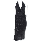 1990s Black Donna Karan Vintage Evening Dress w Cardigan 90s
