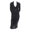 Black Donna Karan Vintage Evening Dress and Cardigan 90s