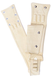1980s Cream Lambskin Leather Utility Belt Bag