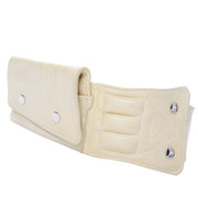 1980s Cream Lambskin Leather Fanny Pack or Belt Bag