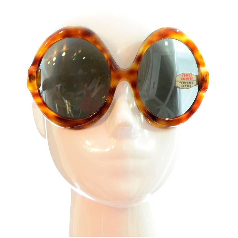1960's oversized tortoise sunglasses deadstock