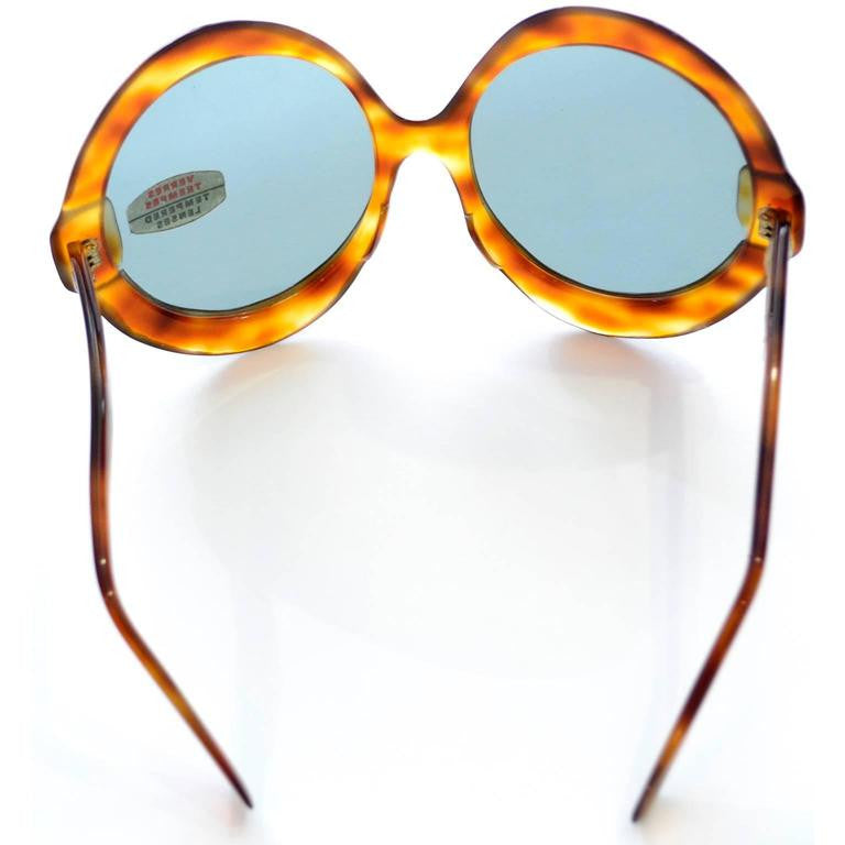 New 1960's oversized tortoise sunglasses