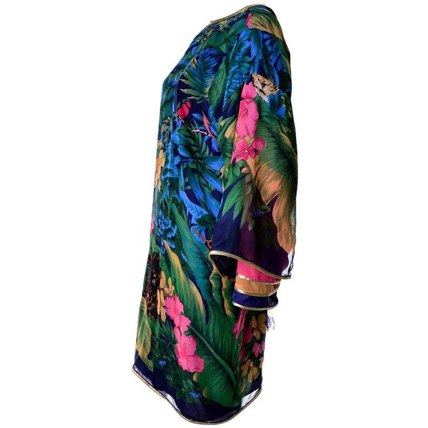 Tropical jungle print caftan