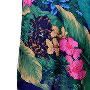 Vintage Jungle Cat Caftan SIlk