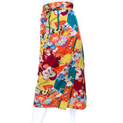 1930s Japanese vintage silk wrap skirt