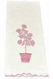 Vintage Madeira Rose Tree hand towels linen