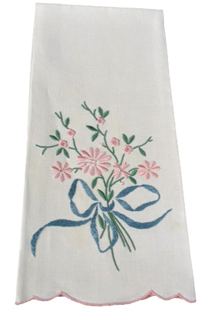 Vintage I Magnin hand embroidered Madeira hand towels