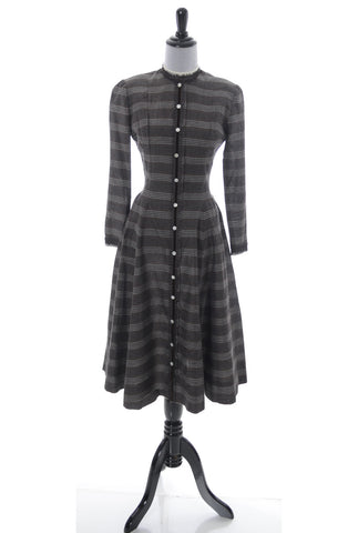 Vintage early 1950s plaid Parklane Debs plaid dress - Dressing Vintage