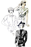1930s Hollywood 1131 Vintage Pattern Olivia De Haviland 32B - Dressing Vintage