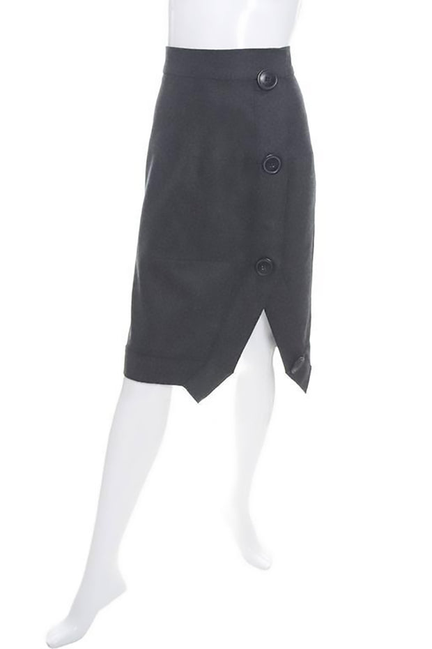 Vivienne Westwood Anglomania Gray Wool Skirt