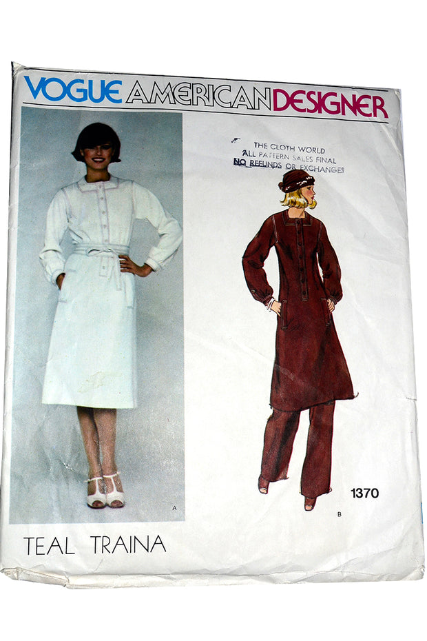 Vogue 1370 Vintage Sewing Pattern Teal Traina