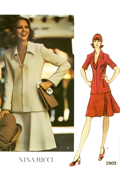 Nina Ricci Vogue 2903 Paris Original Sewing Pattern