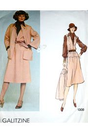 Galitzine Vogue 1308 Vintage Sewing Pattern