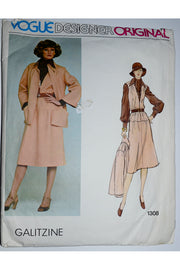 Vogue Designer Original Pattern 1308 Irene Galitzine